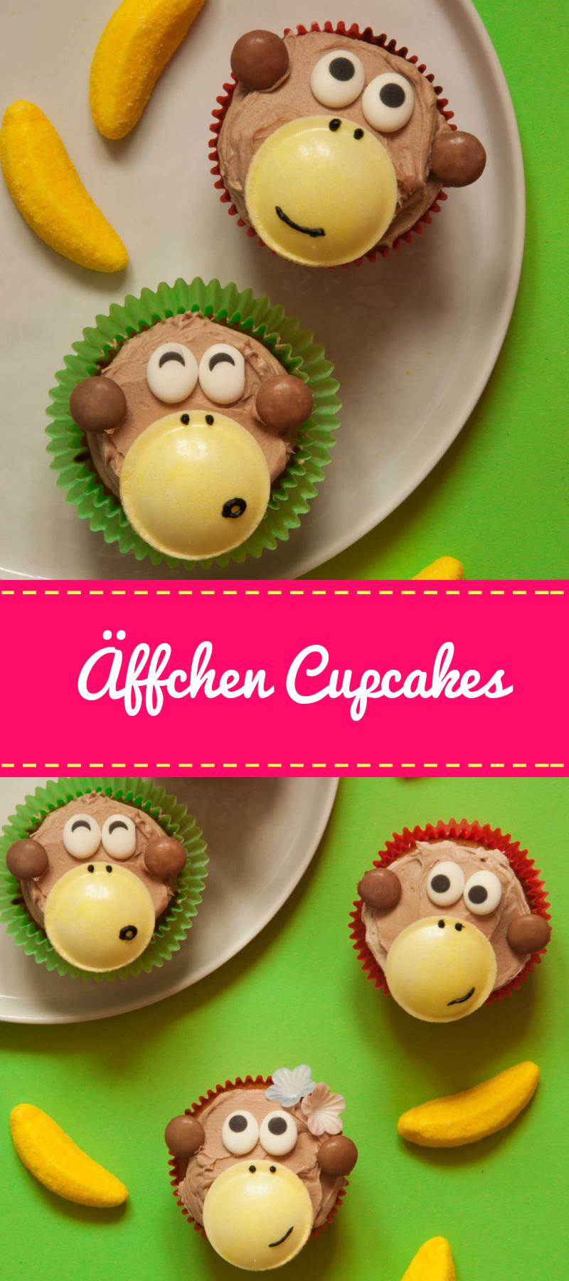 Lustige Affenbande-Cupcakes - Wer hat die Kokosnuss geklaut?? - Made with Luba - Kreativer Küchenspaß