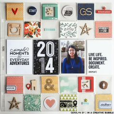 In a Creative Bubble: Project Life 2014 // Title Page #projectlife