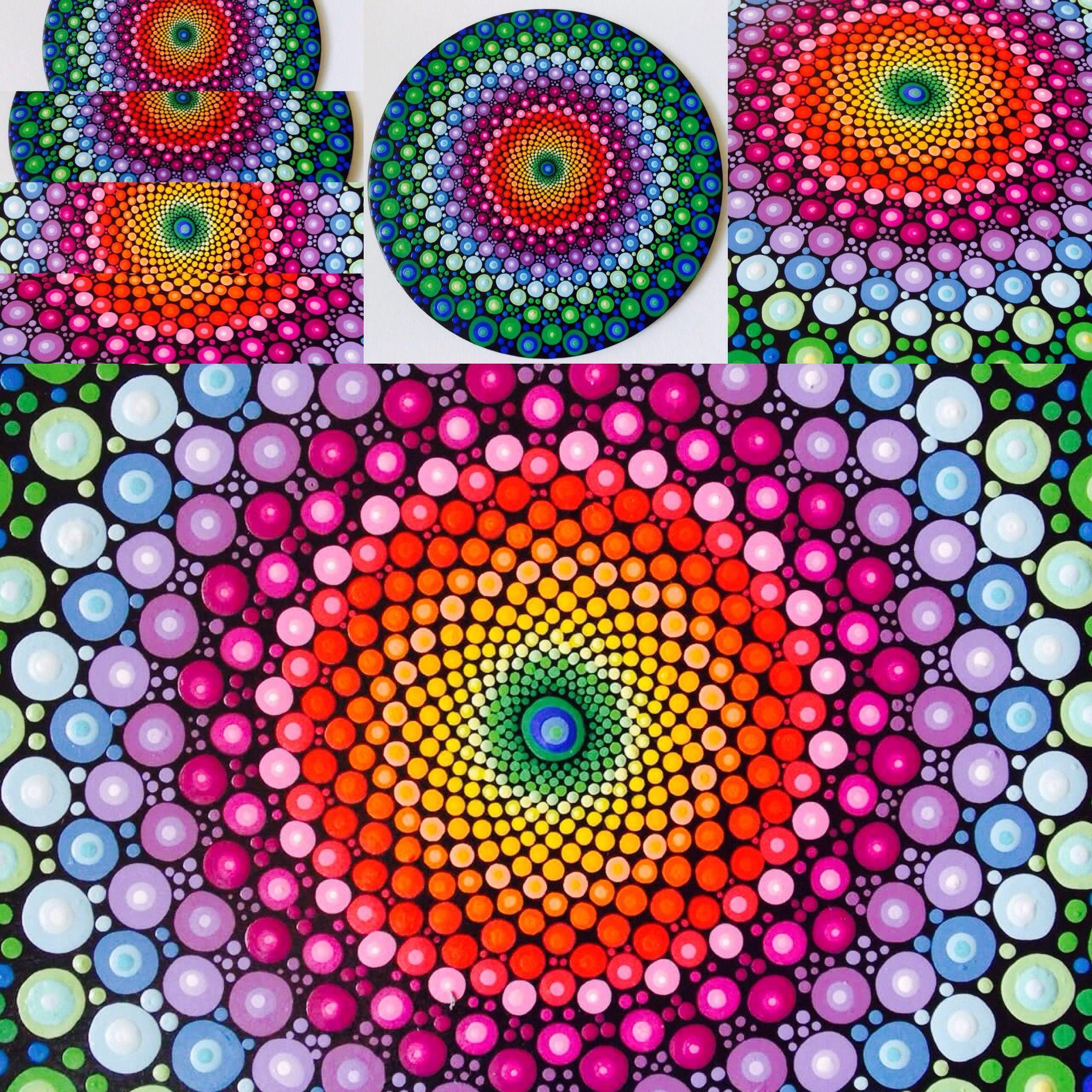 Rainbow Dot Mandala By Kaila Lance Etsy Shop