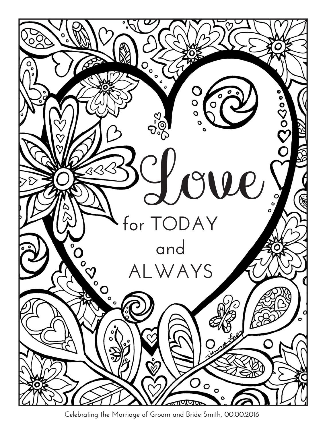 Coloring book wedding example june2016 | Love coloring ...