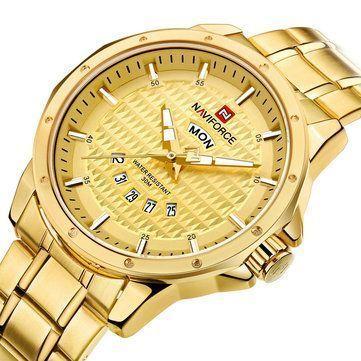 b2b0f0fdb9ec Relojes De Lujo · NAVIFORCE 9115 Men Watch Luxury Stainless Steel Strap  Fashion Quartz Wrist Watch-Only US 9.99