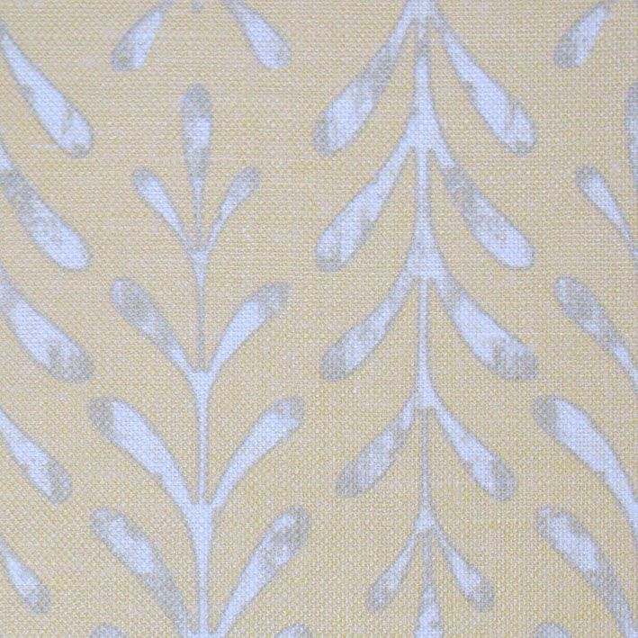 Kaftor Leaf Maize. Available printed on linen, cotton, cotton linen blends. © Ellen Eden