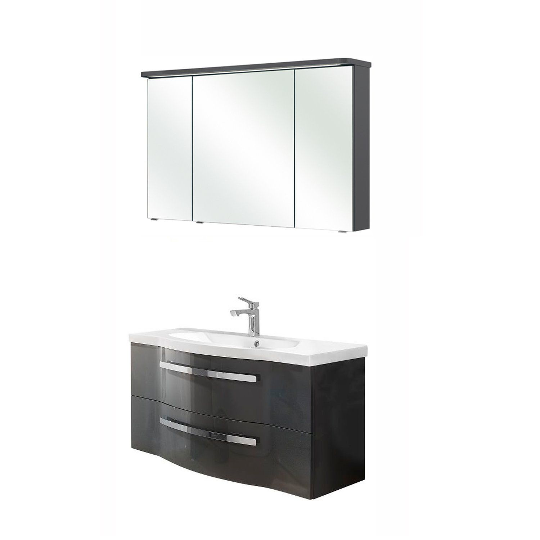 Badschrank Hochschrank Beleuchtung Spiegelschrank Badschrank