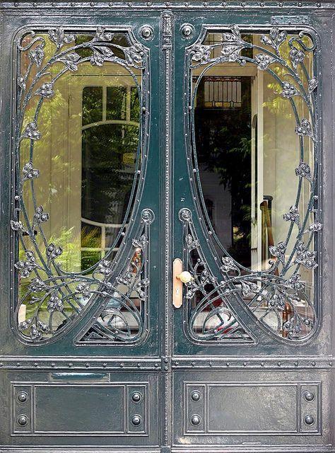 welded / forged metal door by Evro Kovka - UZ = Uzbekistan? Russia
