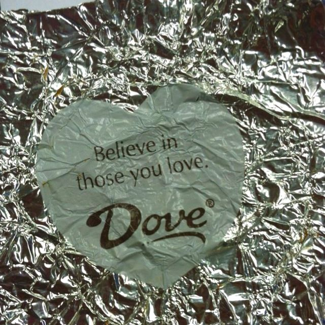 i love Dove wrappers :)