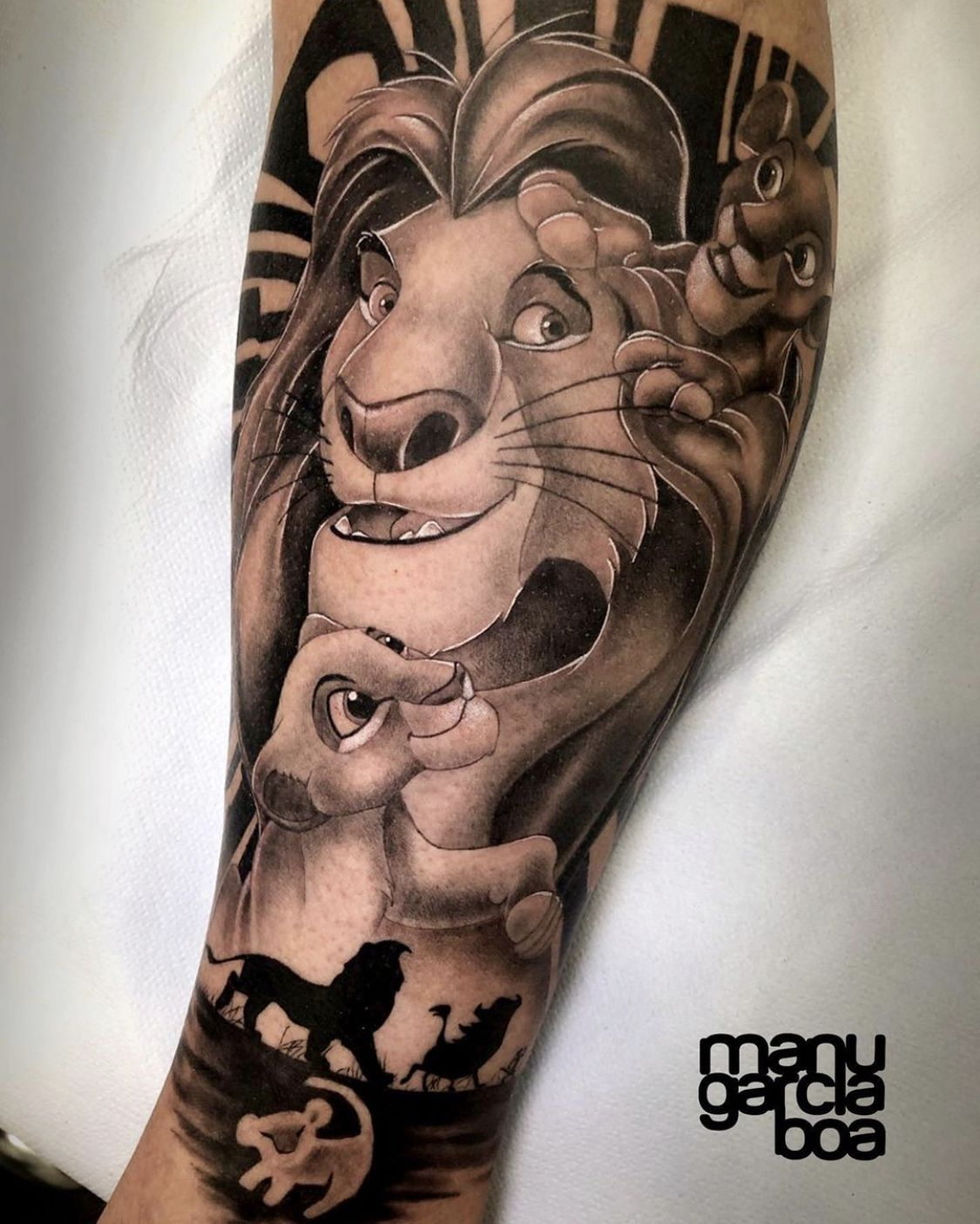 "Time4Ink on Instagram: ""Who has seen the new lion king? What did you think?  This piece by @manugarciaboa_tattoo is gorgeous • • • #time4ink #tattoo #tattoos…"""