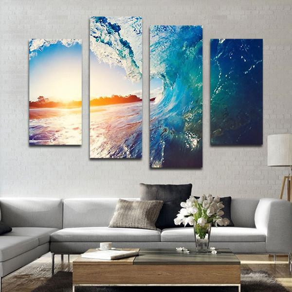 The Wave Multi Panel Canvas Wall Art In 2021 Wall Canvas Canvas Wall Decor Canvas Wall Art