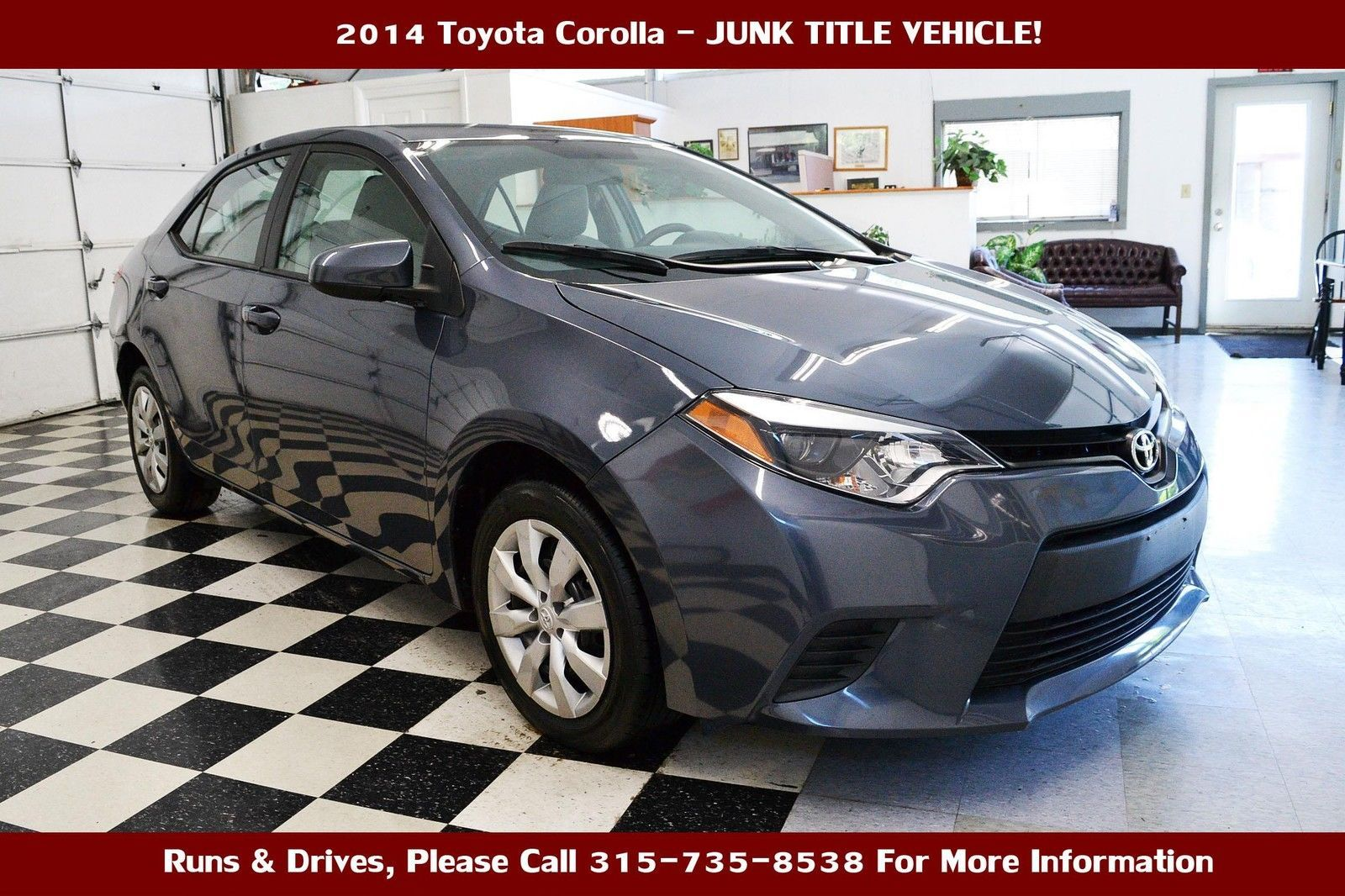 Nice Toyota 2017: 2014 Toyota Corolla NO RESERVE JUNK TITLE 2014 Toyota Corolla Junk Title Car Repairable Damaged Wrecked
