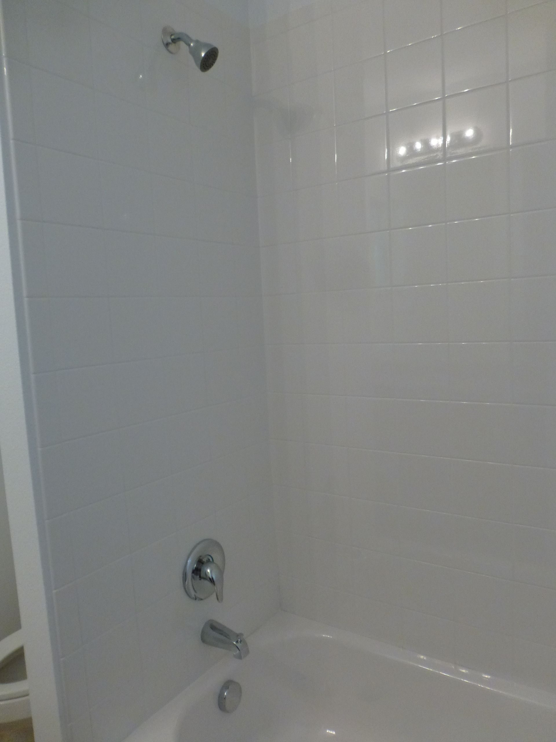 6x6 white bath wall tile standard in
