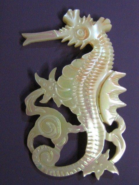 Stunning Sea Horse MOP Shell Artisan Button.