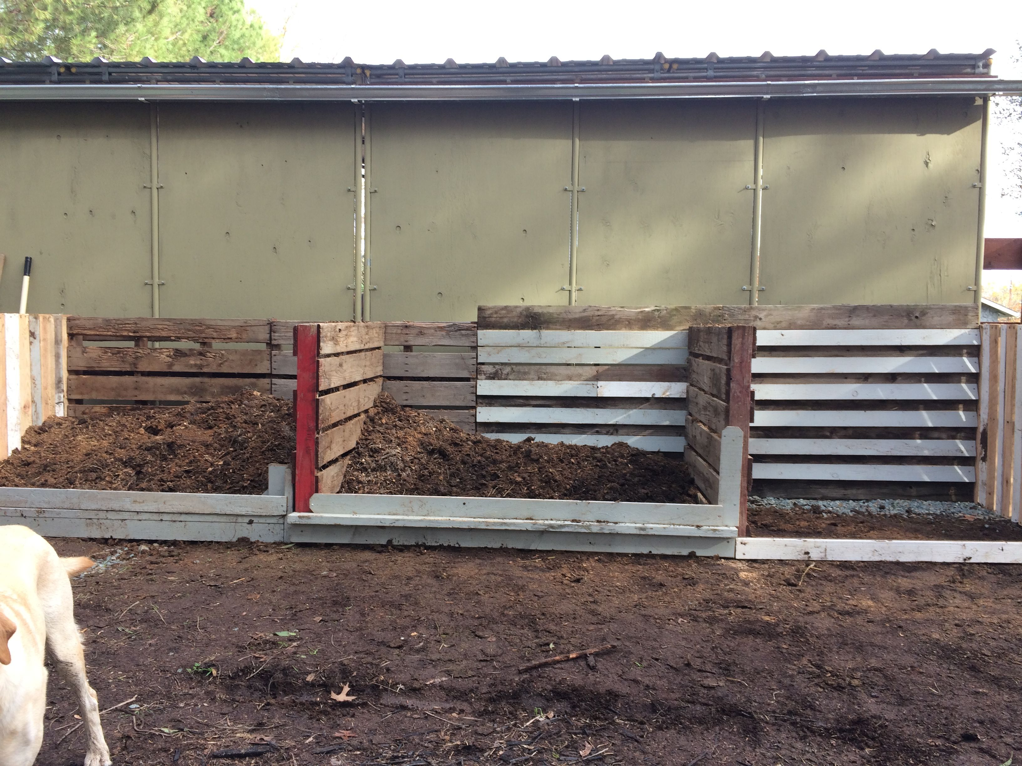 Used Old Pallets To Make Horse Manure Compost Storage DIY Barn
