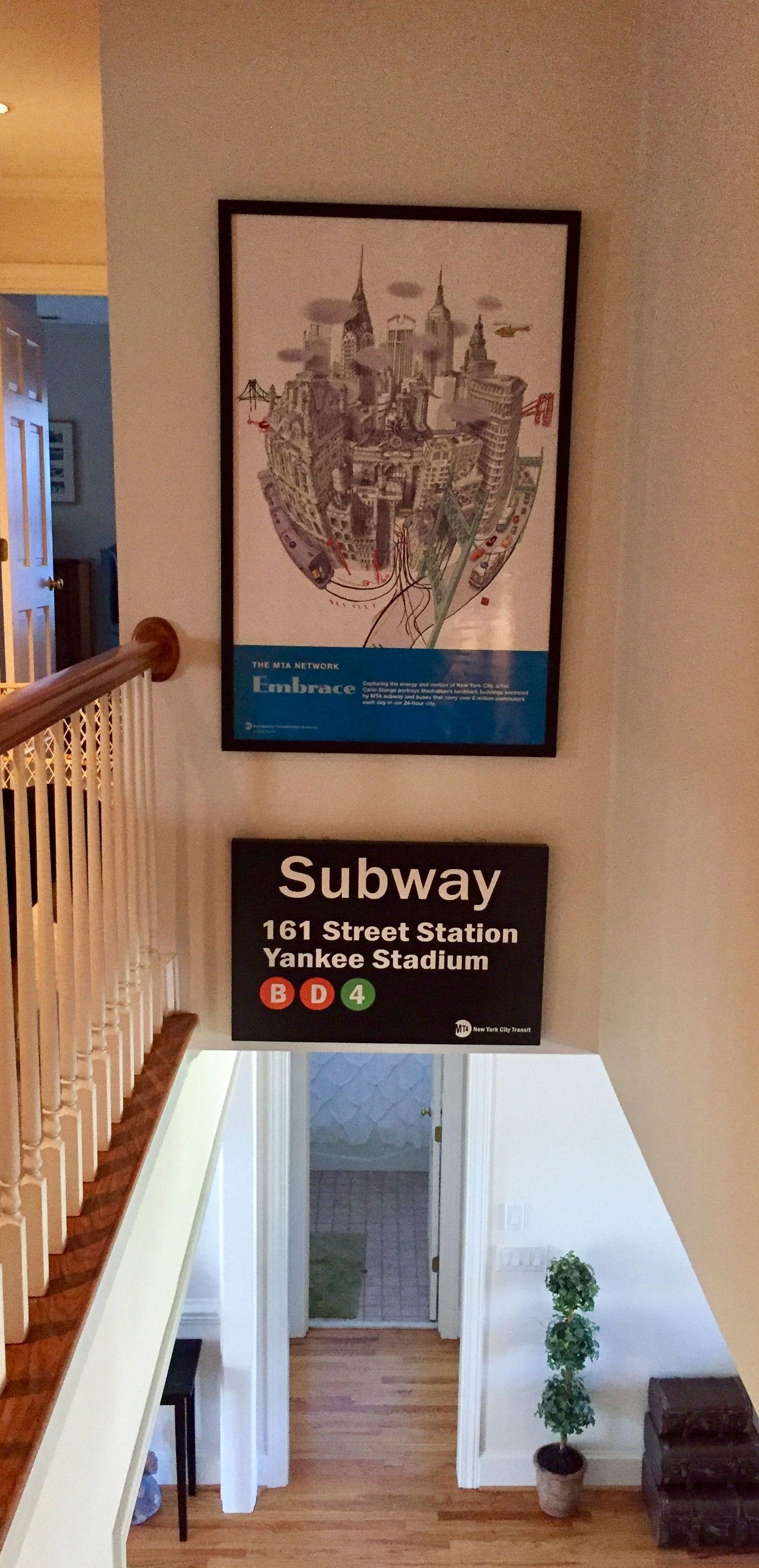 Yankee Stadium 161st Station Subway Sign Acquired Mta Print Of Nyc Home Subway Sign Nyc Subway New York Subway