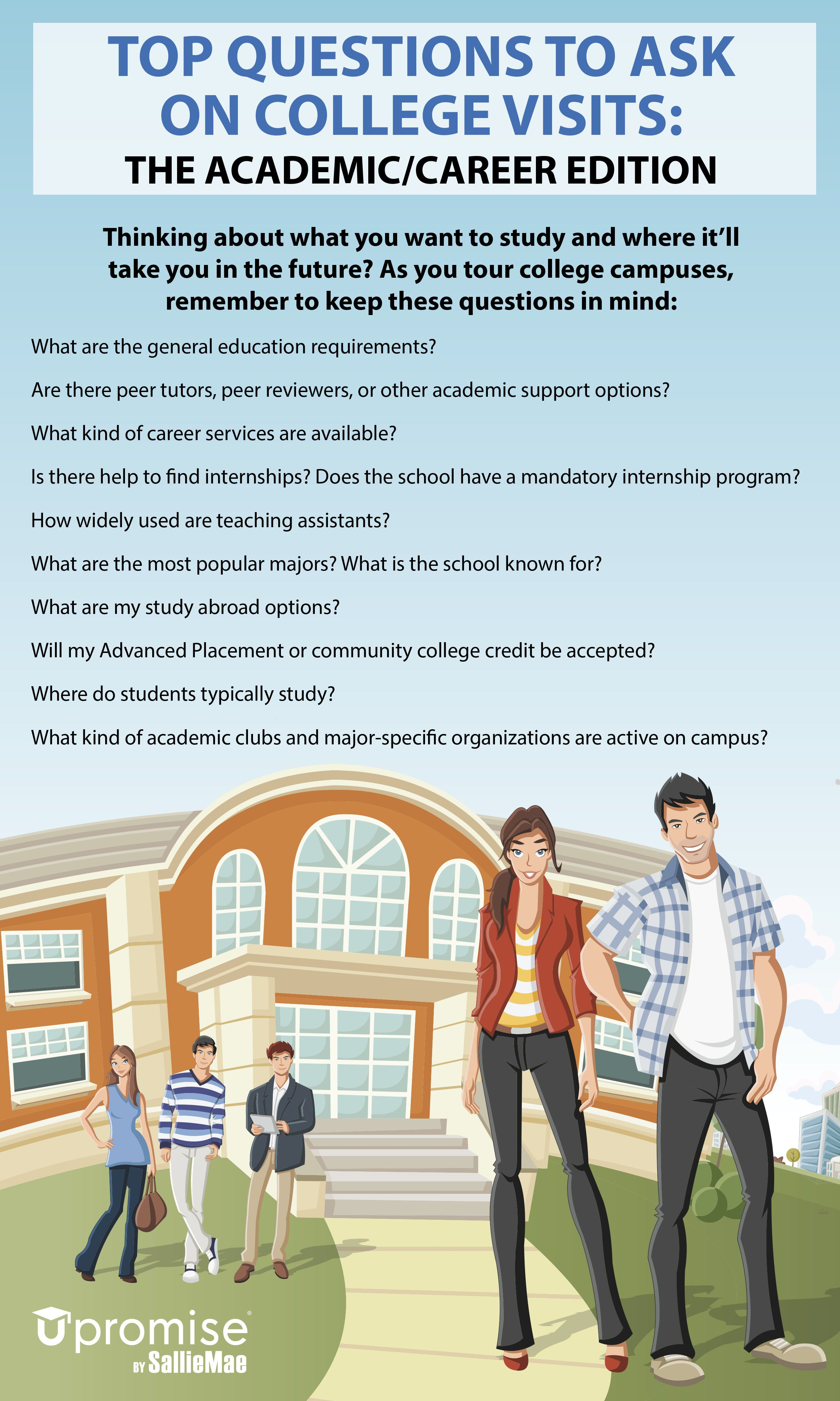 top 10 questions to ask on college visits  the academic