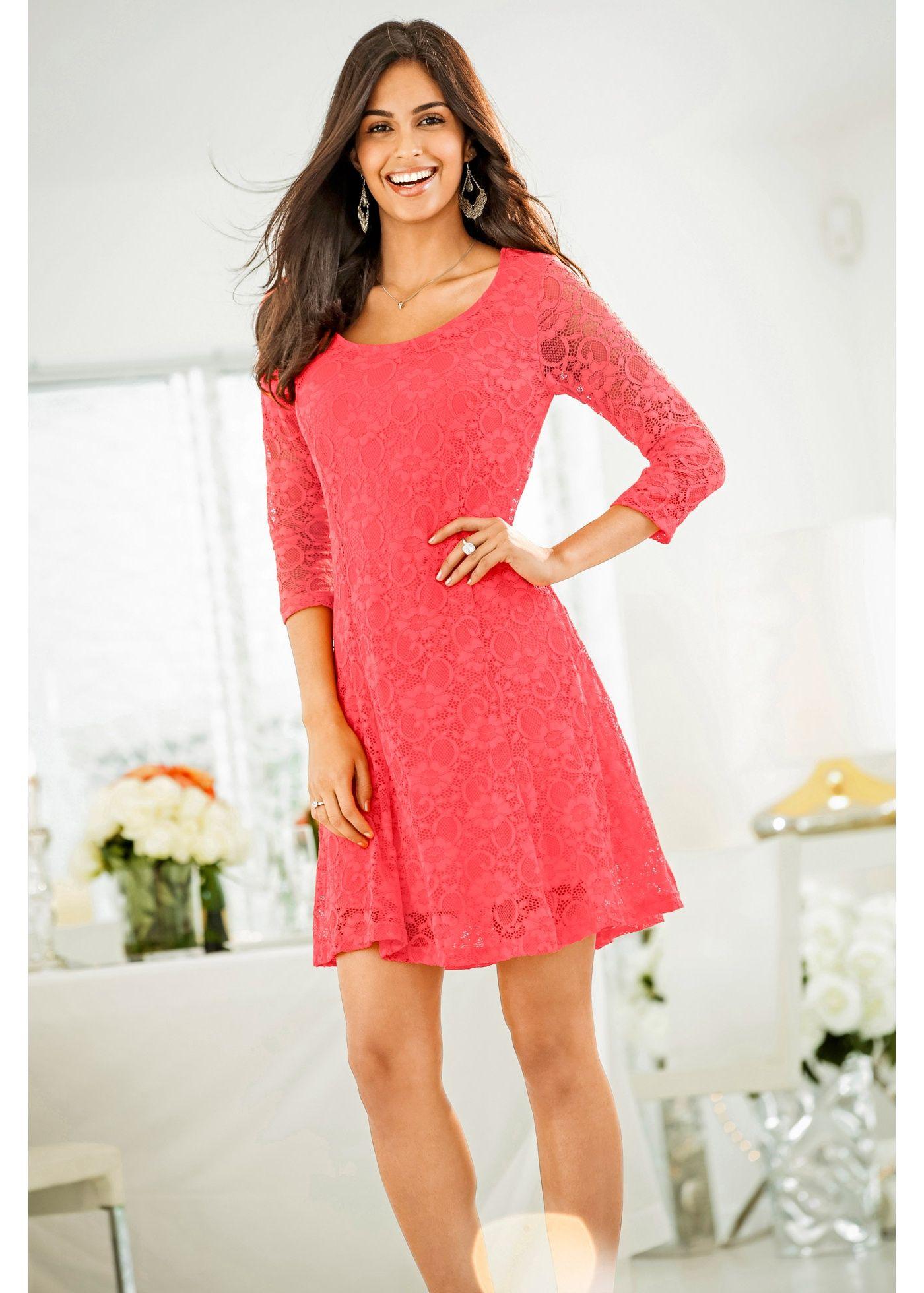 Kleid mit Spitze hummer - BODYFLIRT jetzt im Online Shop von