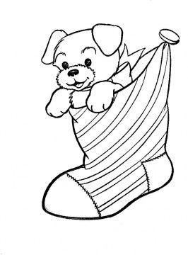 Christmas Stocking Coloring Page For Kids Printable Christmas Coloring Pages Puppy Coloring Pages Christmas Pictures To Color