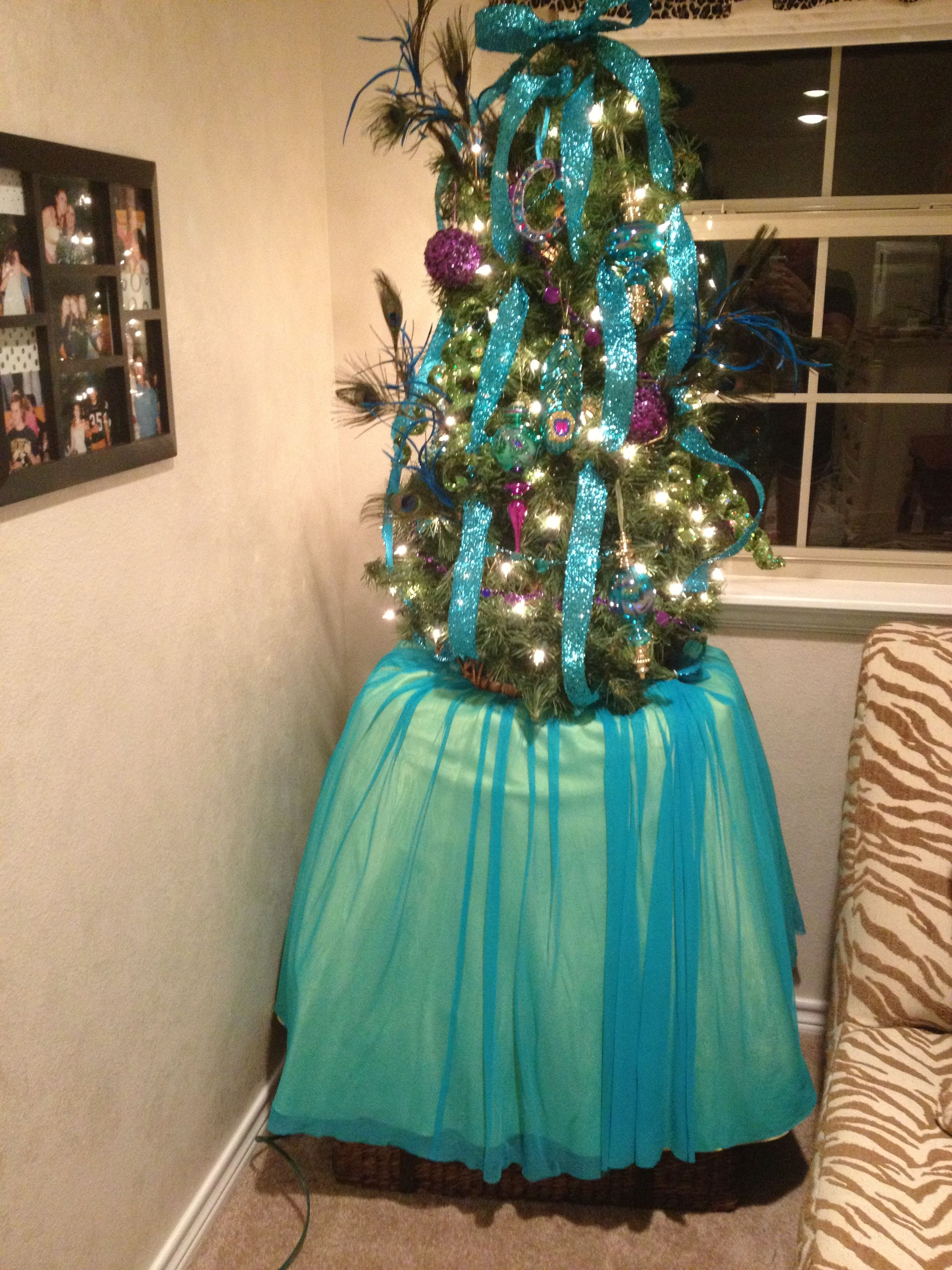 Old prom dresses as tree skirts remake old prom dress