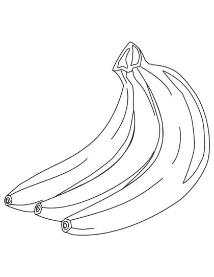 Three banana coloring pages | Download Free Three banana coloring ...