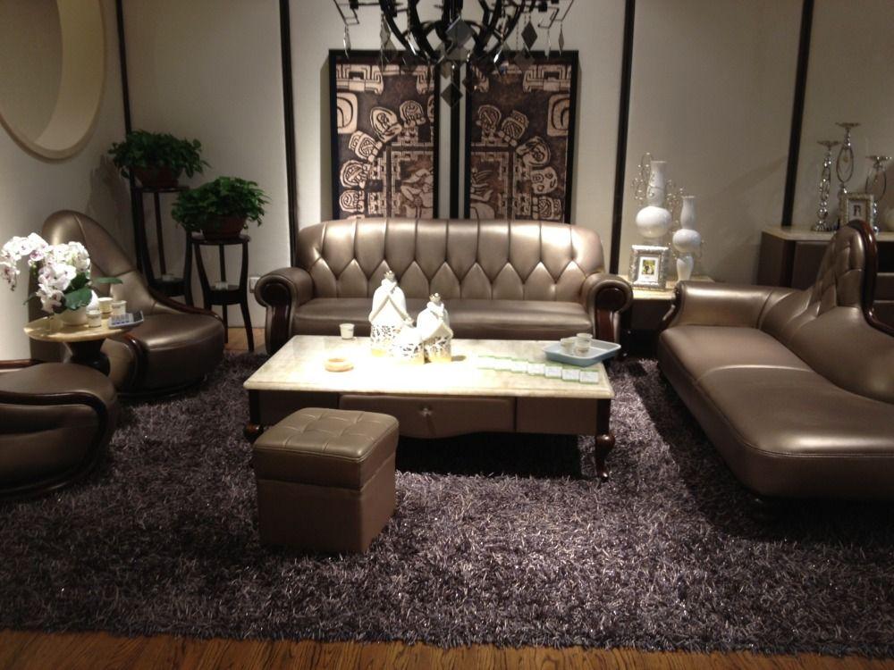 Cow Genuine Leather Sofa Set Living Room Sofa Sectionalcorner Sofa