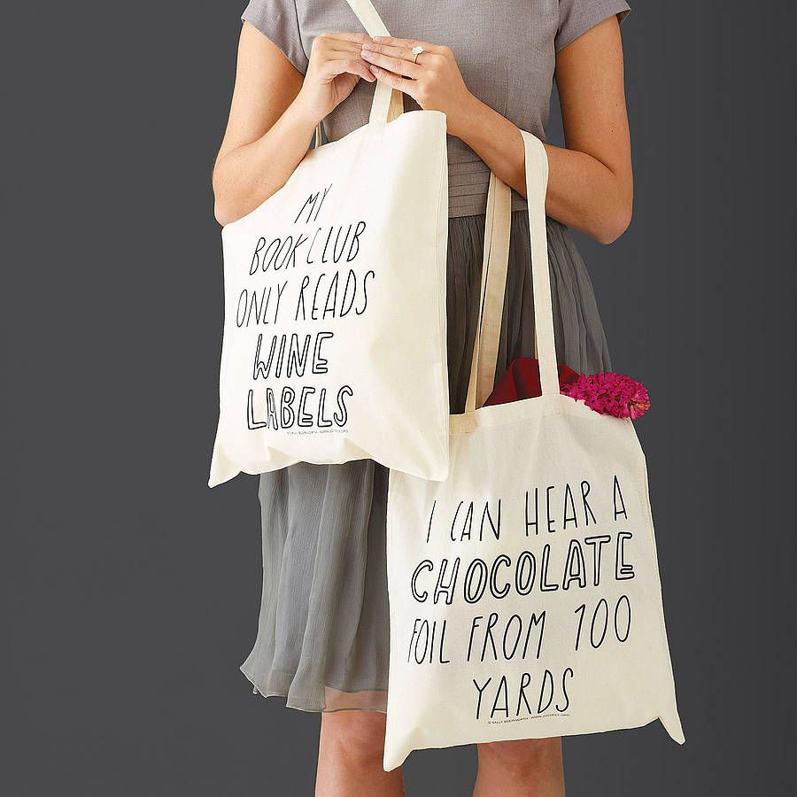 Silly Slogan Tote Bag | Tote bag, Bag and Cotton bag