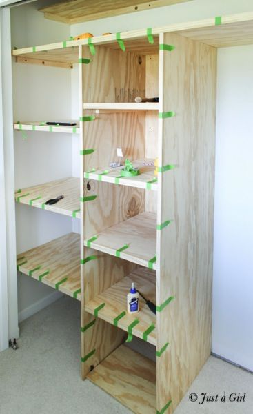 Building Closet Shelves Small Storage Shelving Build Closets