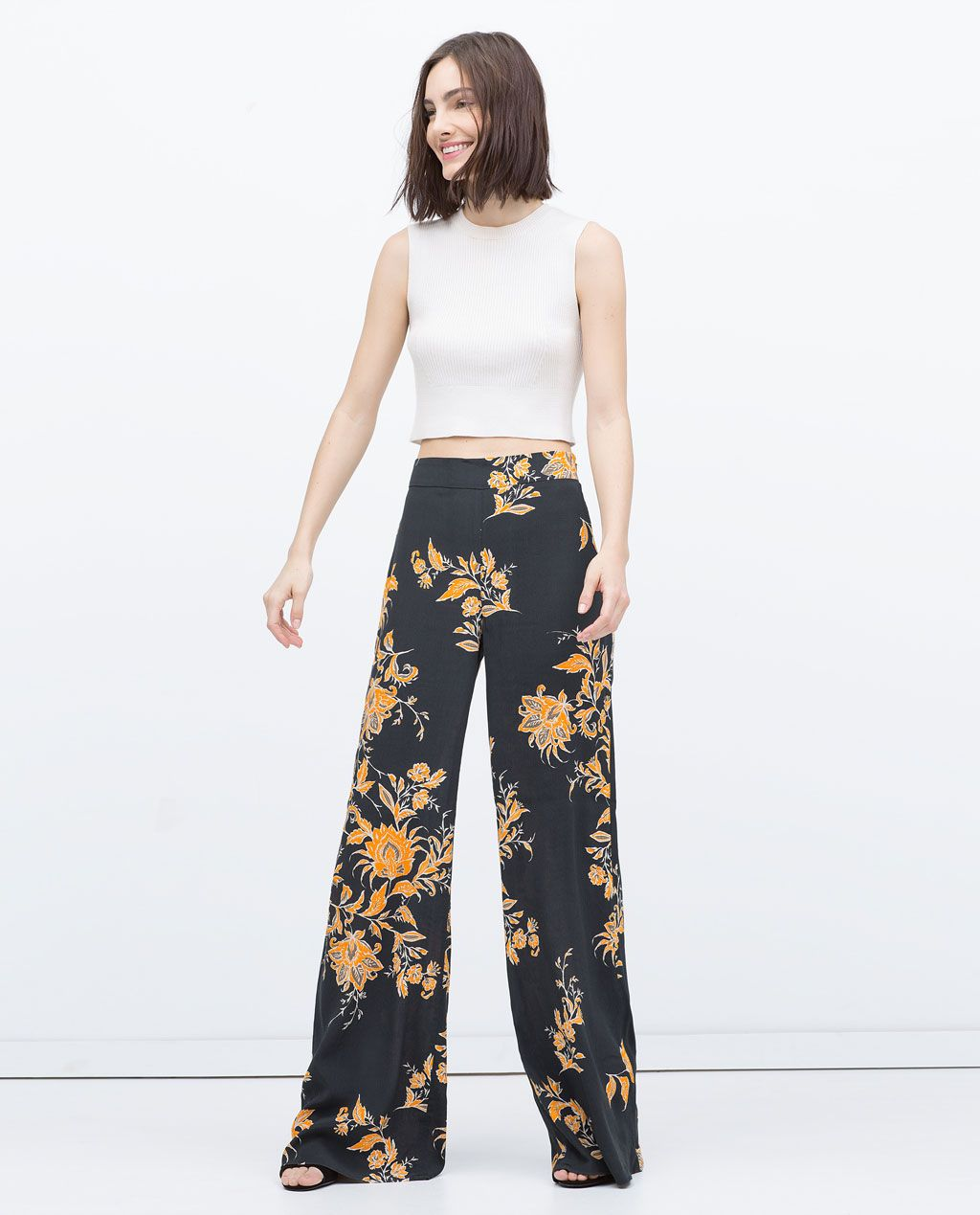 9f15cec834 LOOSE-FIT TROUSERS-View all-Trousers-WOMAN | ZARA United States ...