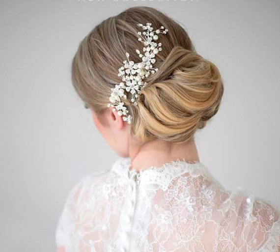 Bridal Pearl Hair Comb, Wedding Hair Comb, Crystal & Pearl Hair Comb, Bridal Head Piece