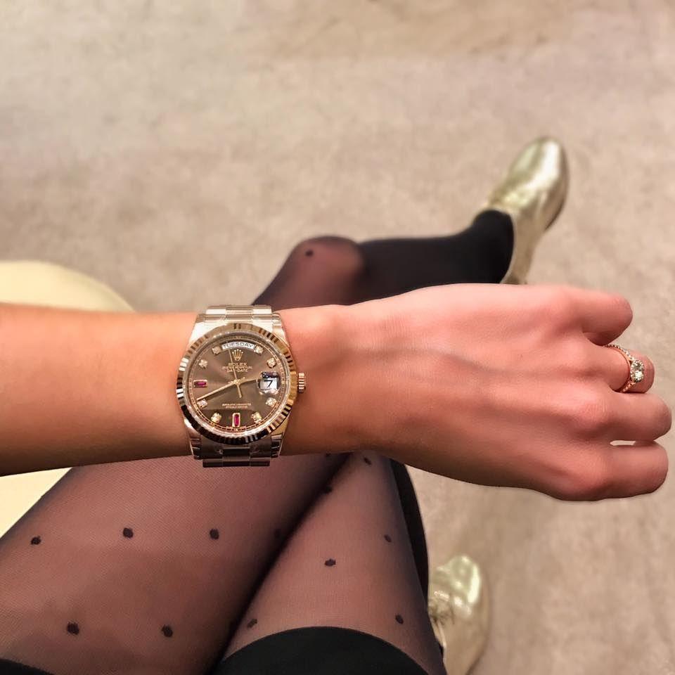 what 39 s your favorite watch montre rolex day date 36 en or everose cadran chocolat index. Black Bedroom Furniture Sets. Home Design Ideas