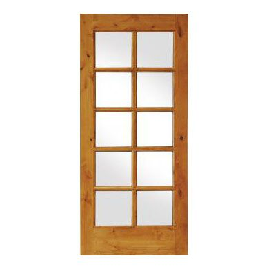 Krosswood Doors 28 In. French Knotty Alder Tempered Glass Solid Left Hand  Wood Single Prehung Interior Door At The Home Depot   Mobile