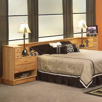 Oak Land Furniture 6 77 810 Denmark Headboard With Attached Nightstands California King Headboard Furniture Oak Furniture Land