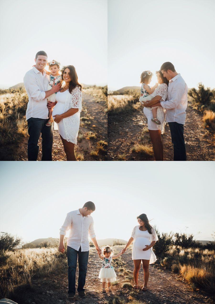 The Sweetest Family Maternity Photos In Desert 3