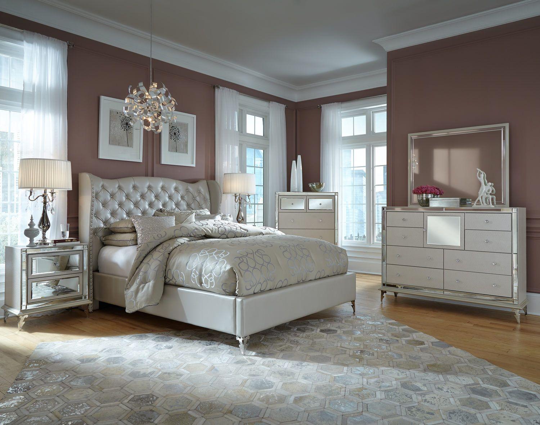 Hollywood Loft Bedroom Suite | Woman bedroom, Upholstered ...
