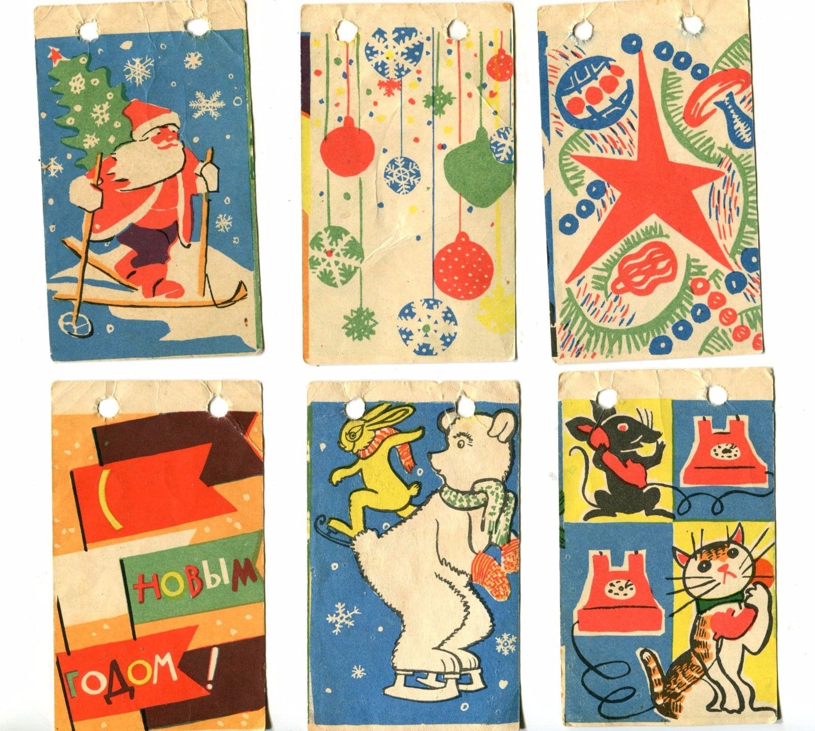 1960 Belka Strelka Space Dogs Paper Garland New Year Decoration ...