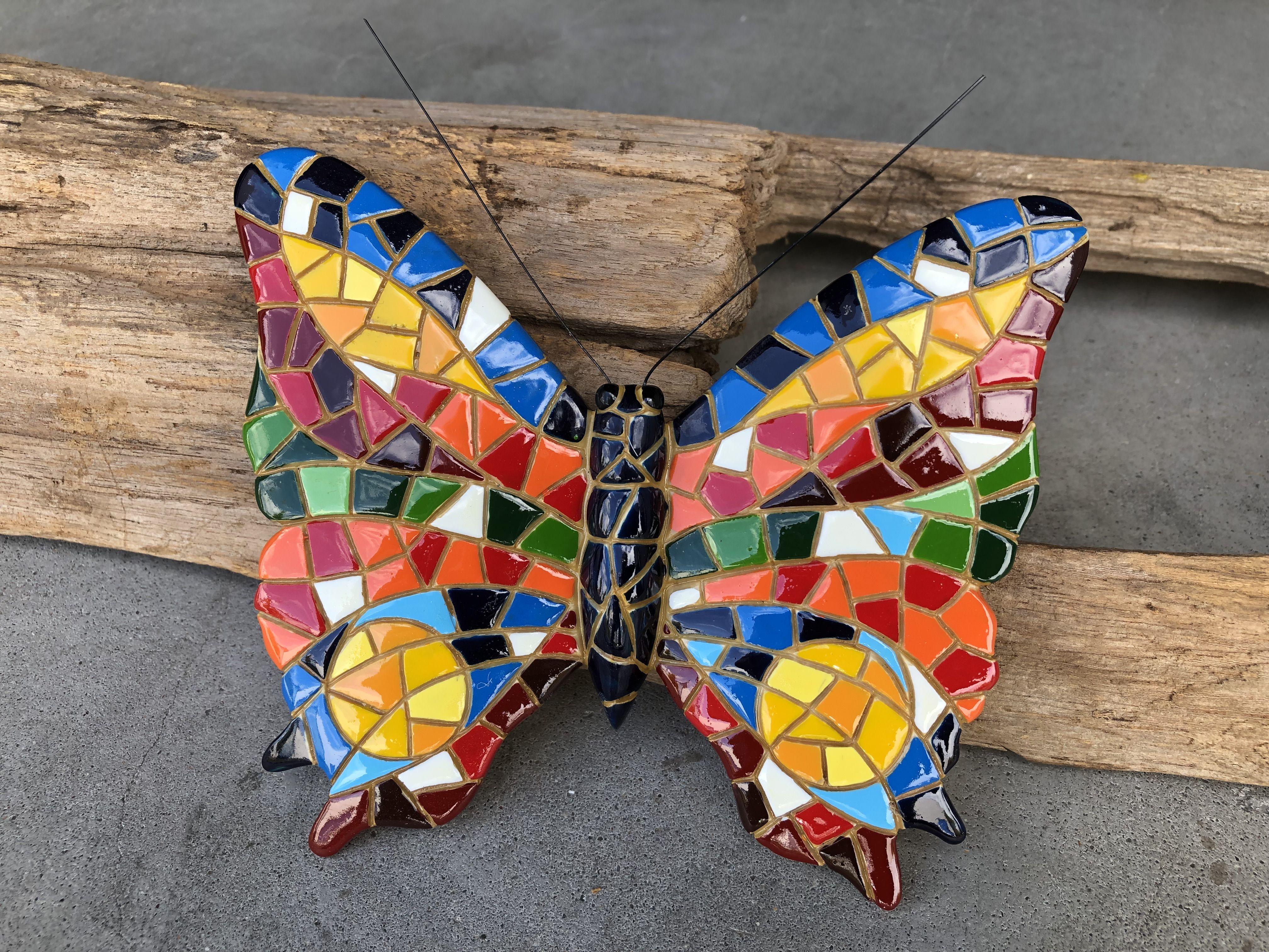 Pin Op Mozaiek Vlinders