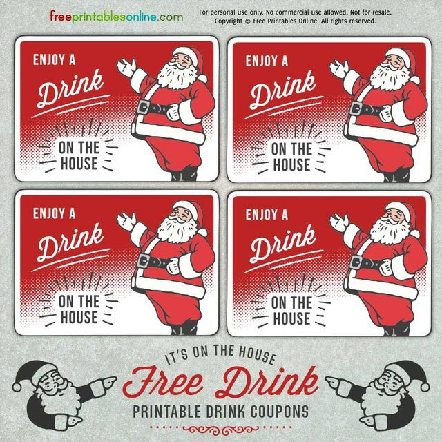 santa holiday drink ticket template ticket template free drink ticket holiday drinks free