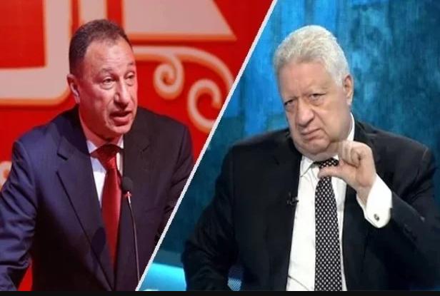 زمالك اليوم أنا ما بخفش من حد يا خطيب مجددا مرتضى منصور يفضح Talk Show Scenes Talk