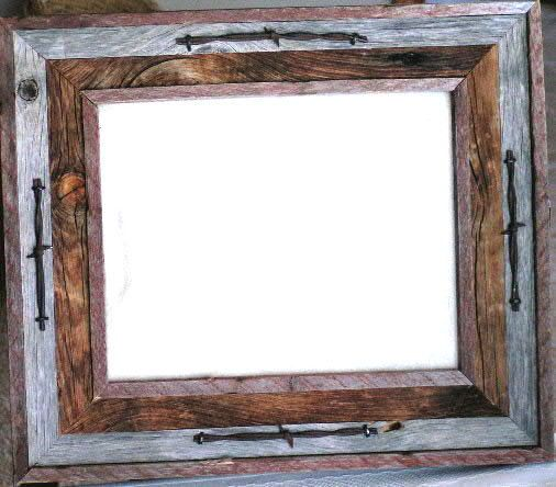 Western Style BARNWOOD PHOTO FRAME | For the Home | Pinterest ...
