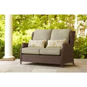 Brown Jordan Vineyard Patio Loveseat in Meadow with Aphrodite Spring Lumbar Pillows-D11097-LV at The Home Depot