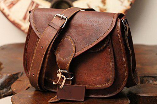 Women Vintage Brown Leather Messenger Cross Body Handmade purse Hobo satchel Bag