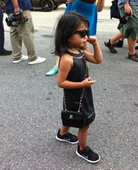 Fashionistas just get younger and younger #NYFW