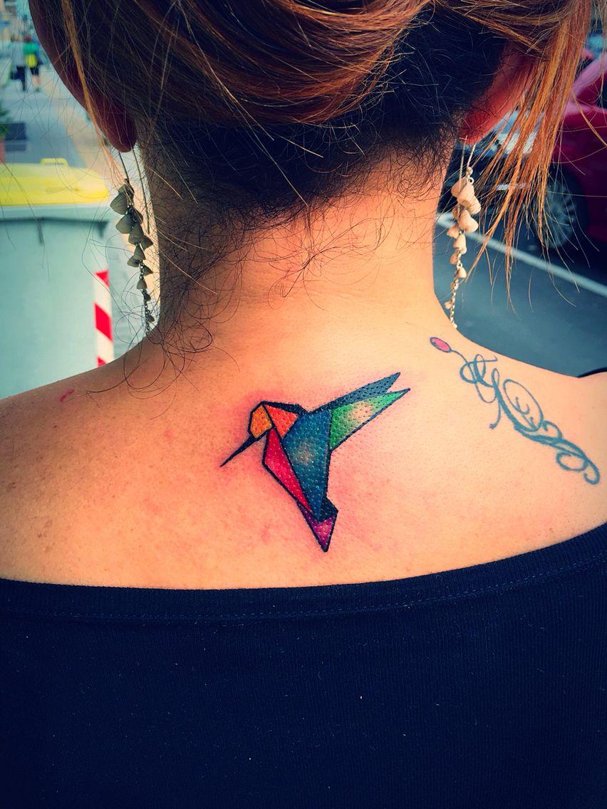 Colibri Tattoo Uomo colibrì origami tattoo #ugualidiritti | colibrì e origami
