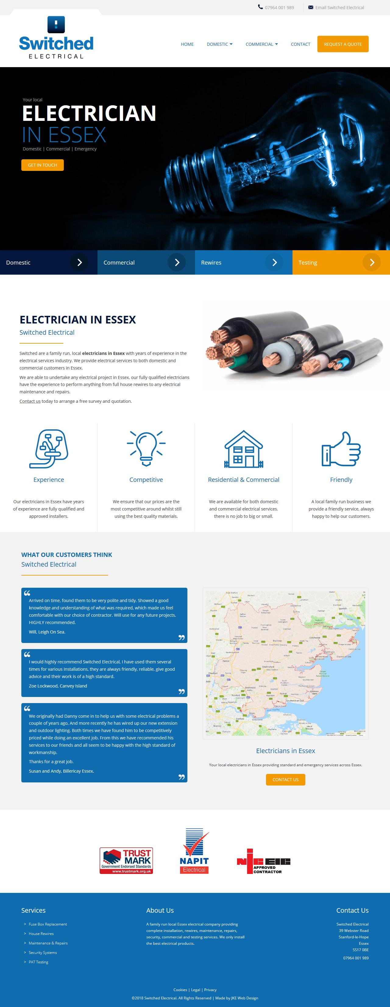 Electrician Website Design Website Design Website Inspiration Web Design