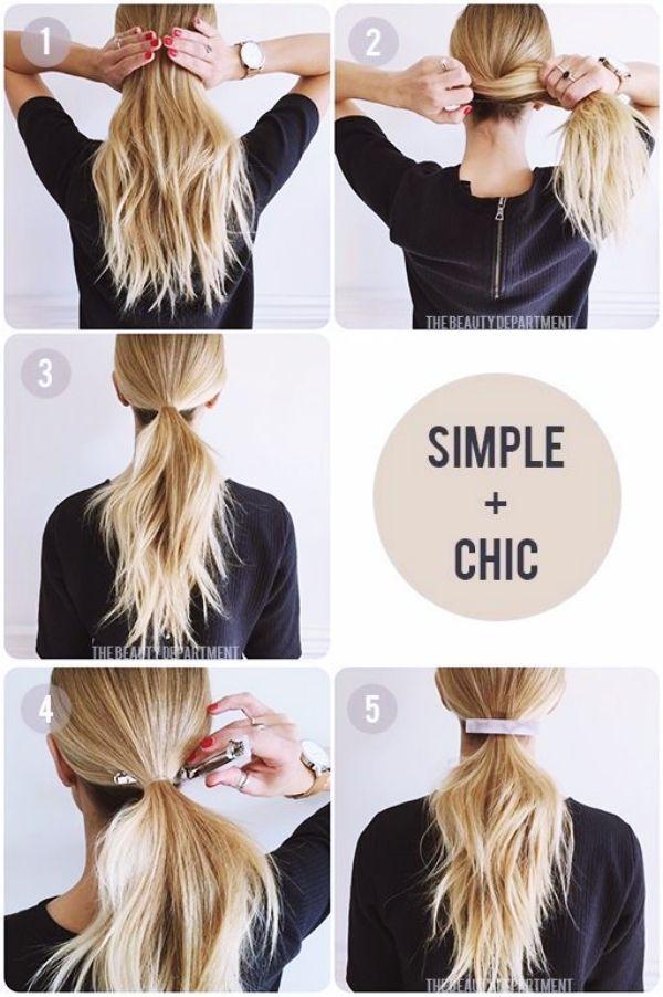 40 Quick Self Do Hairstyles For Working Moms Einfache Frisuren Fur Langes Haar Bequeme Frisuren Frisuren