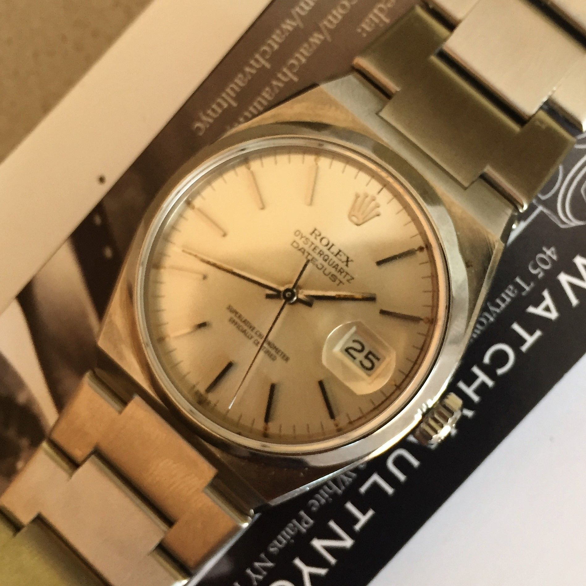 rolex #oysterquartz #6010165 #sold to #international