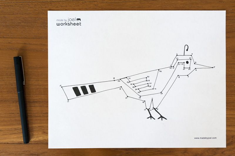Made by Joel Connect the Dots Bird