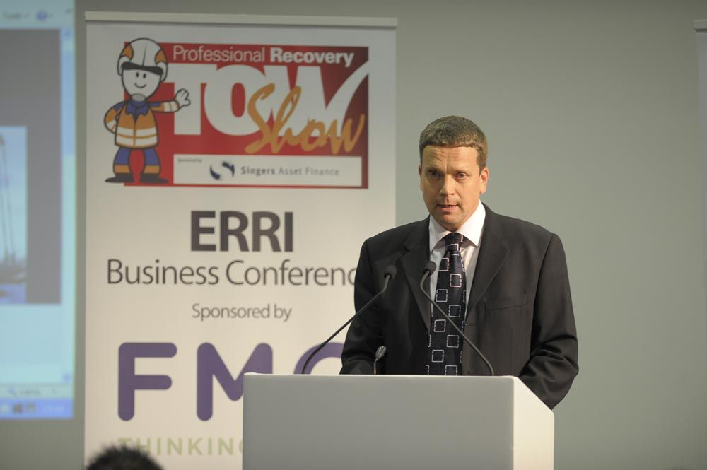 Mark Crawley of Erri talks to the audience