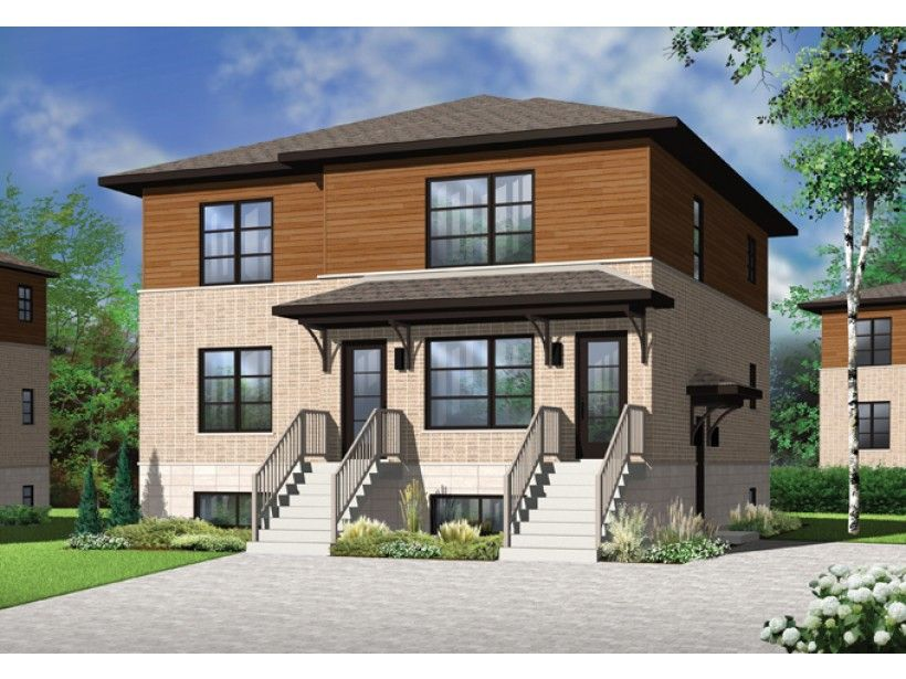Contemporary Style House Plan - 6 Beds 3 Baths 3588 Sq/Ft Plan #23 ...