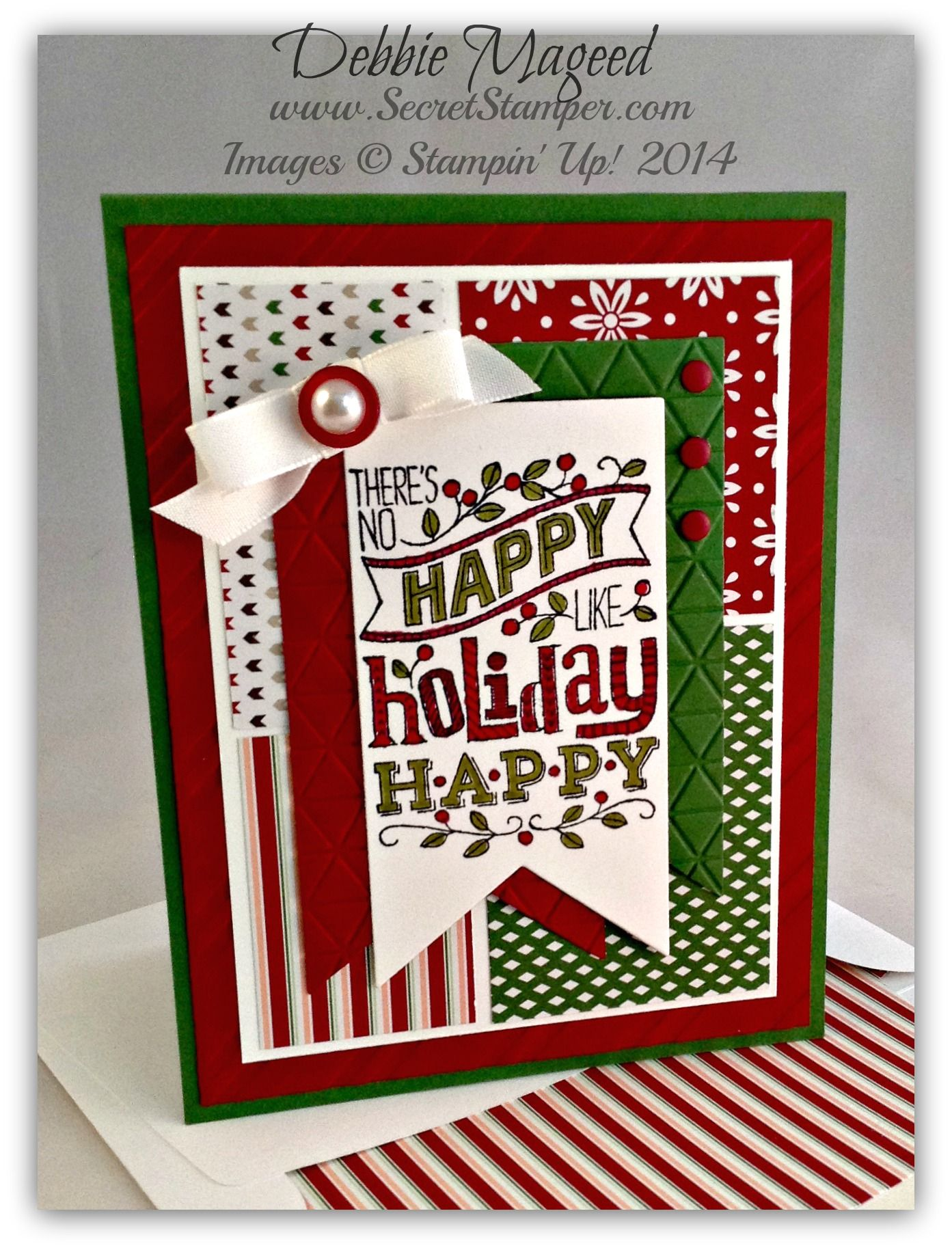 Mingle All The Way Banner Framelits Trim The Tree Dsp Holiday