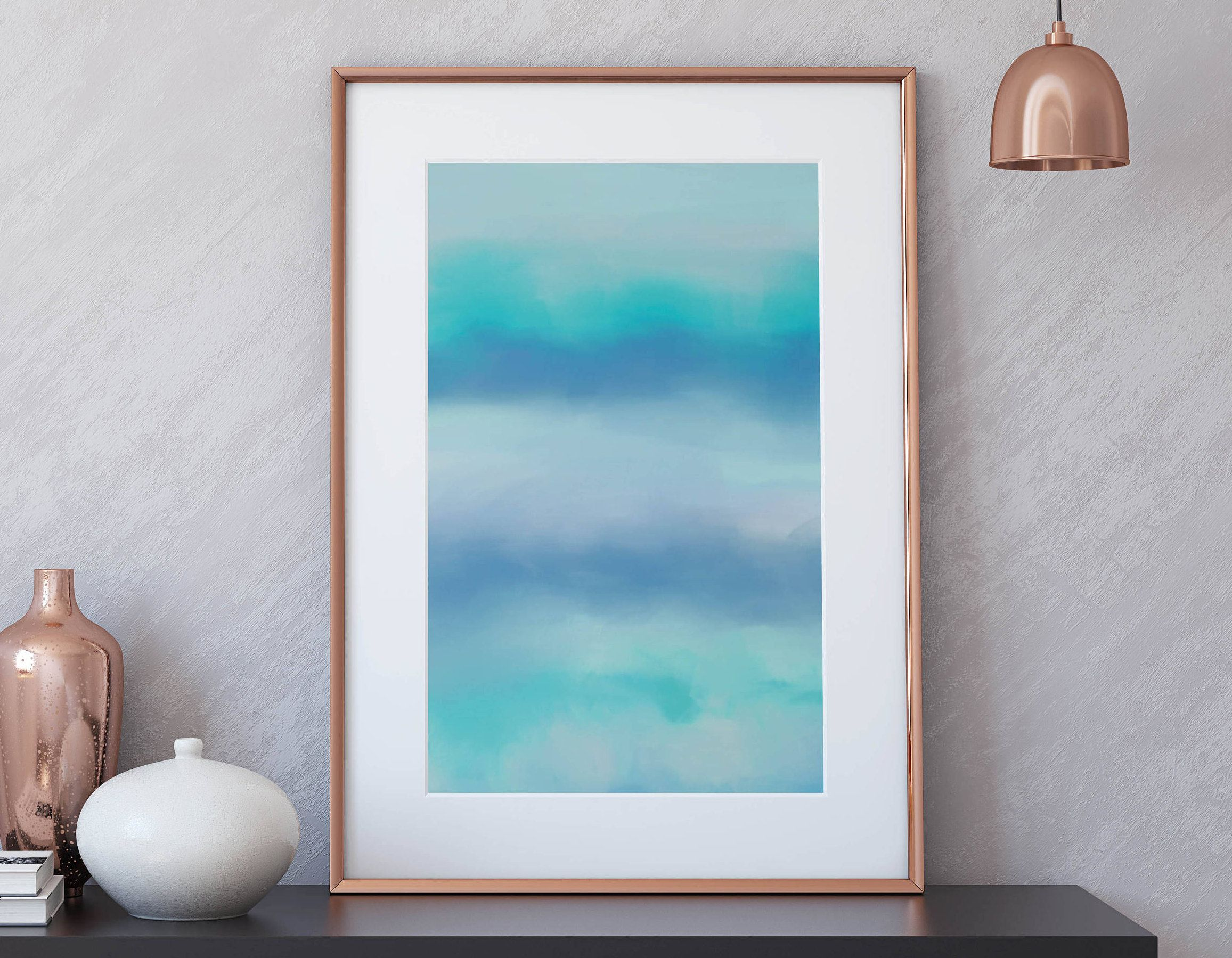 Türkise Wand Seaside Print Teal Printable Art Christmas Gift A4 And A3 Jpgs
