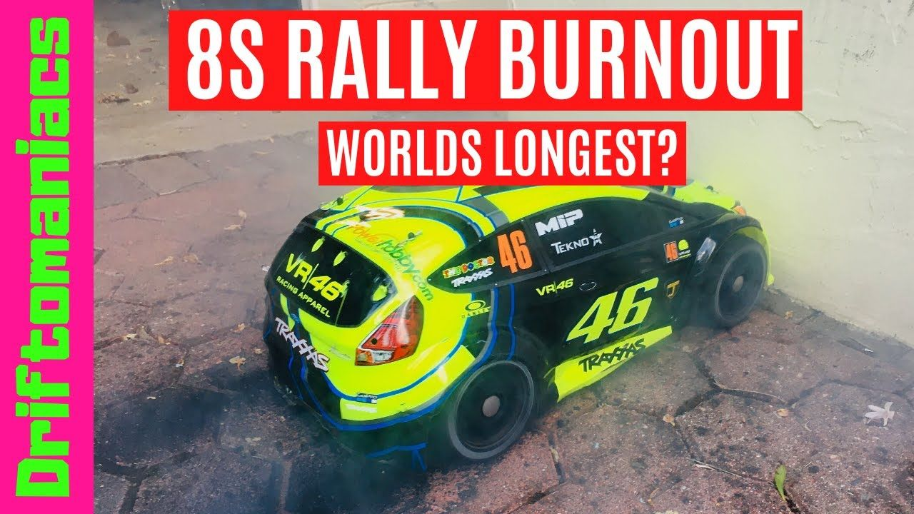Worlds Longest RC Car Burnout? 8S Traxxas Rally | Traxxas ...