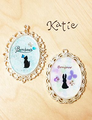 Resin craft Cat & Rabit レジンチャーム 猫とうさぎ